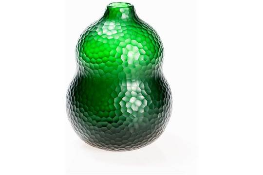 Carlo Scarpa For Venini Vase Battuto Murano 1936dark Green