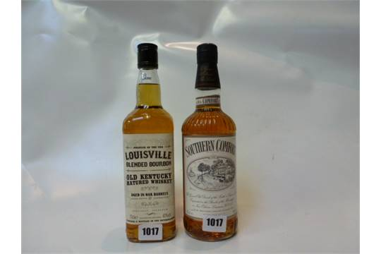 2 Bottles 1 Southern Comfort 70cl 40 And 1 Louisville Blended