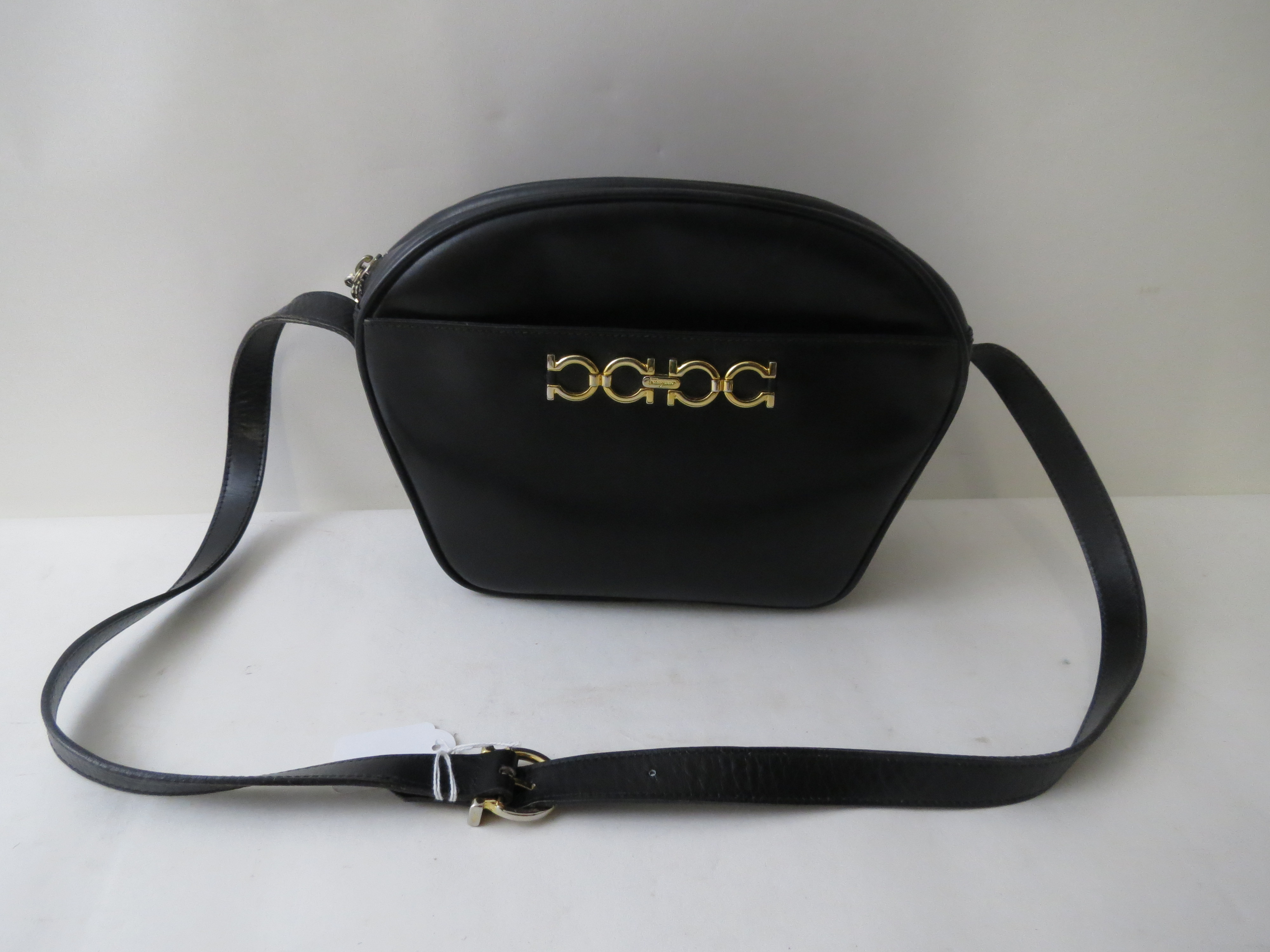 Lot 165 - A black Salvatore Ferragamo Italian leather shoulder handbag e91d984583f7e