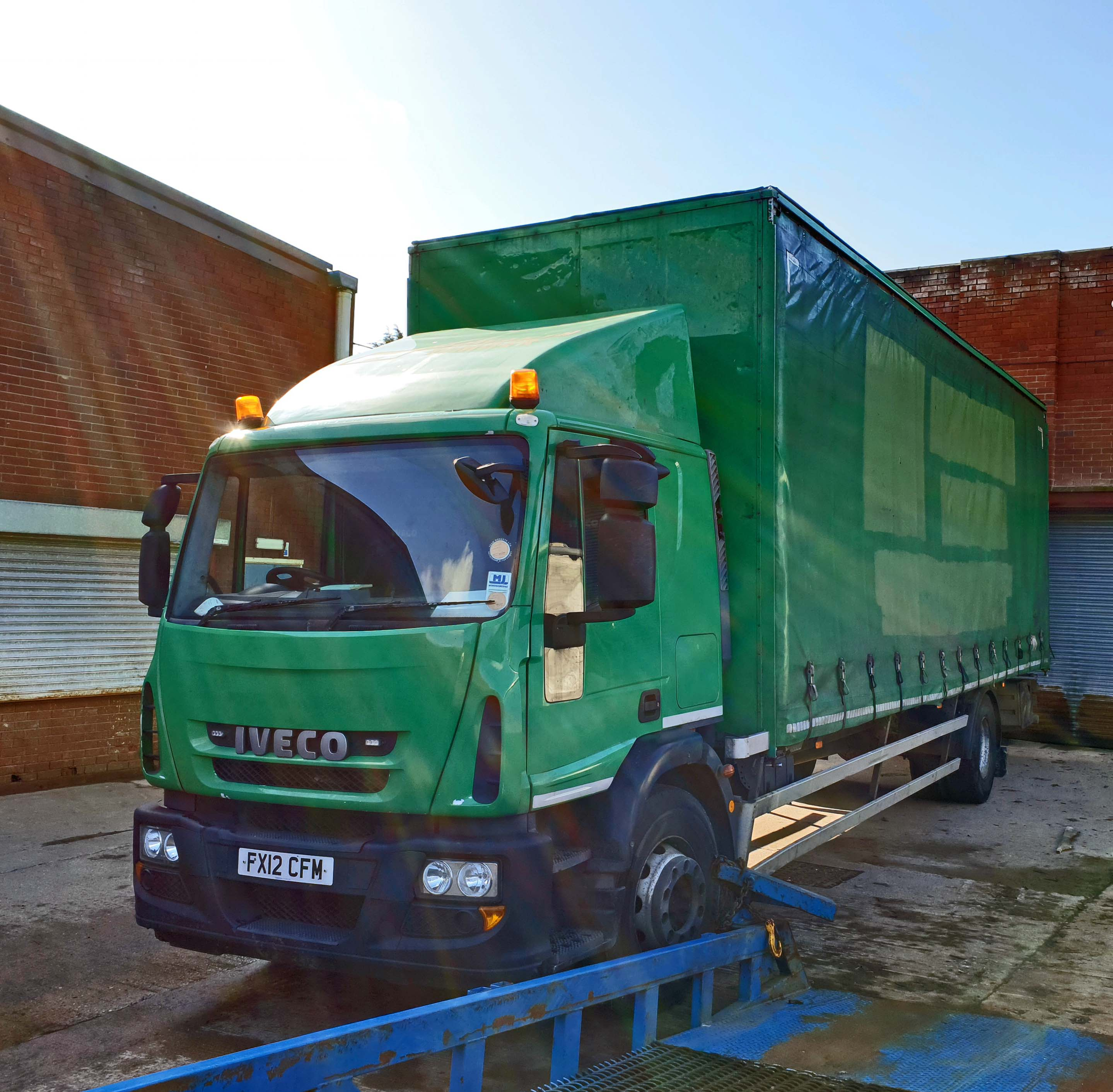 An IVECO Eurocargo ML180E25 5880cc Euro5 18-Tonne 4x2 Curtainside Truck, Registration No. FX12 - Image 2 of 9