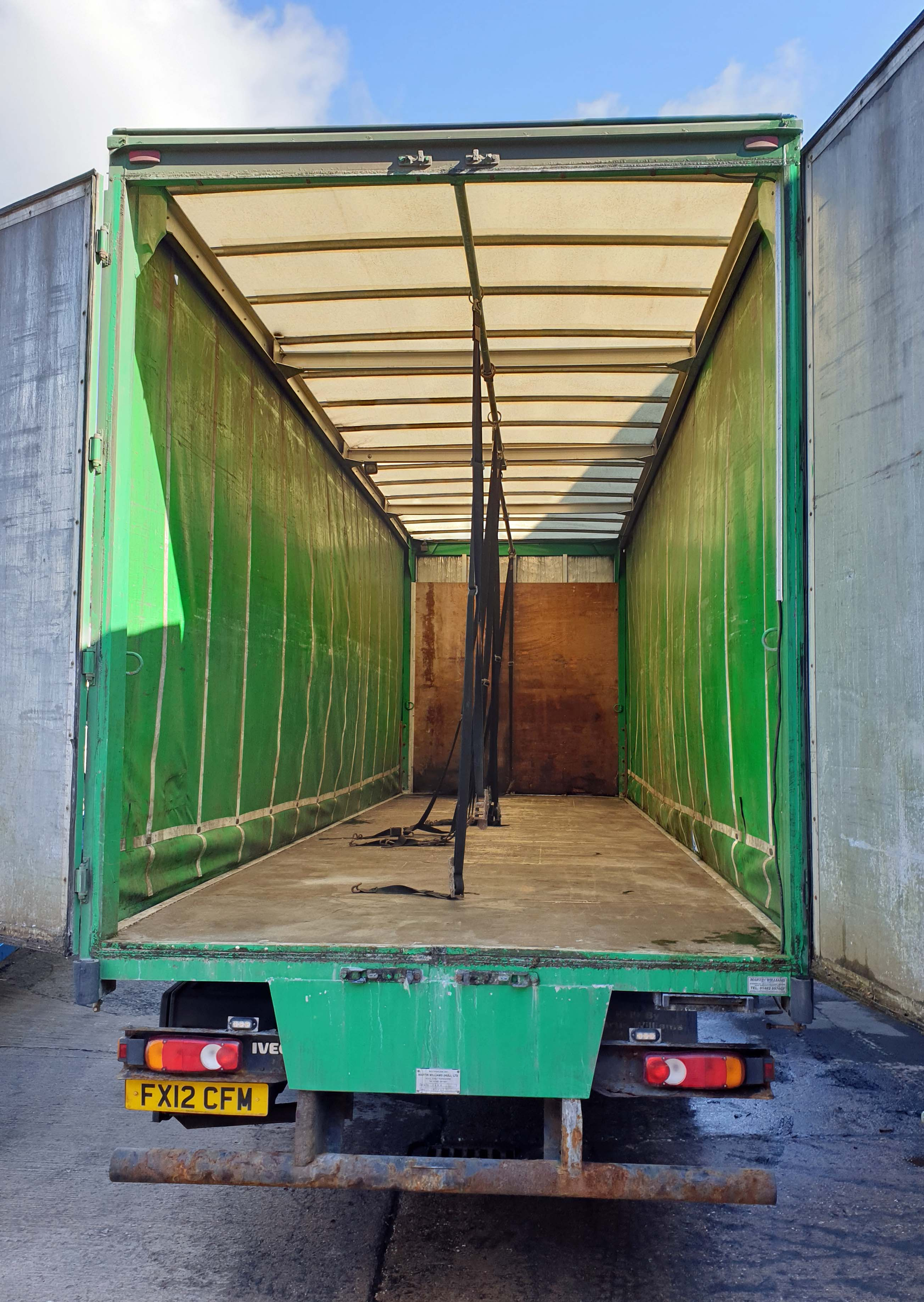 An IVECO Eurocargo ML180E25 5880cc Euro5 18-Tonne 4x2 Curtainside Truck, Registration No. FX12 - Image 4 of 9