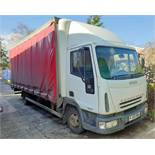 An IVECO Eurocargo ML 75 E17 3920cc 4x2 7.5-Tonne Curtainside Truck, Registration No. FJ55 KWG,