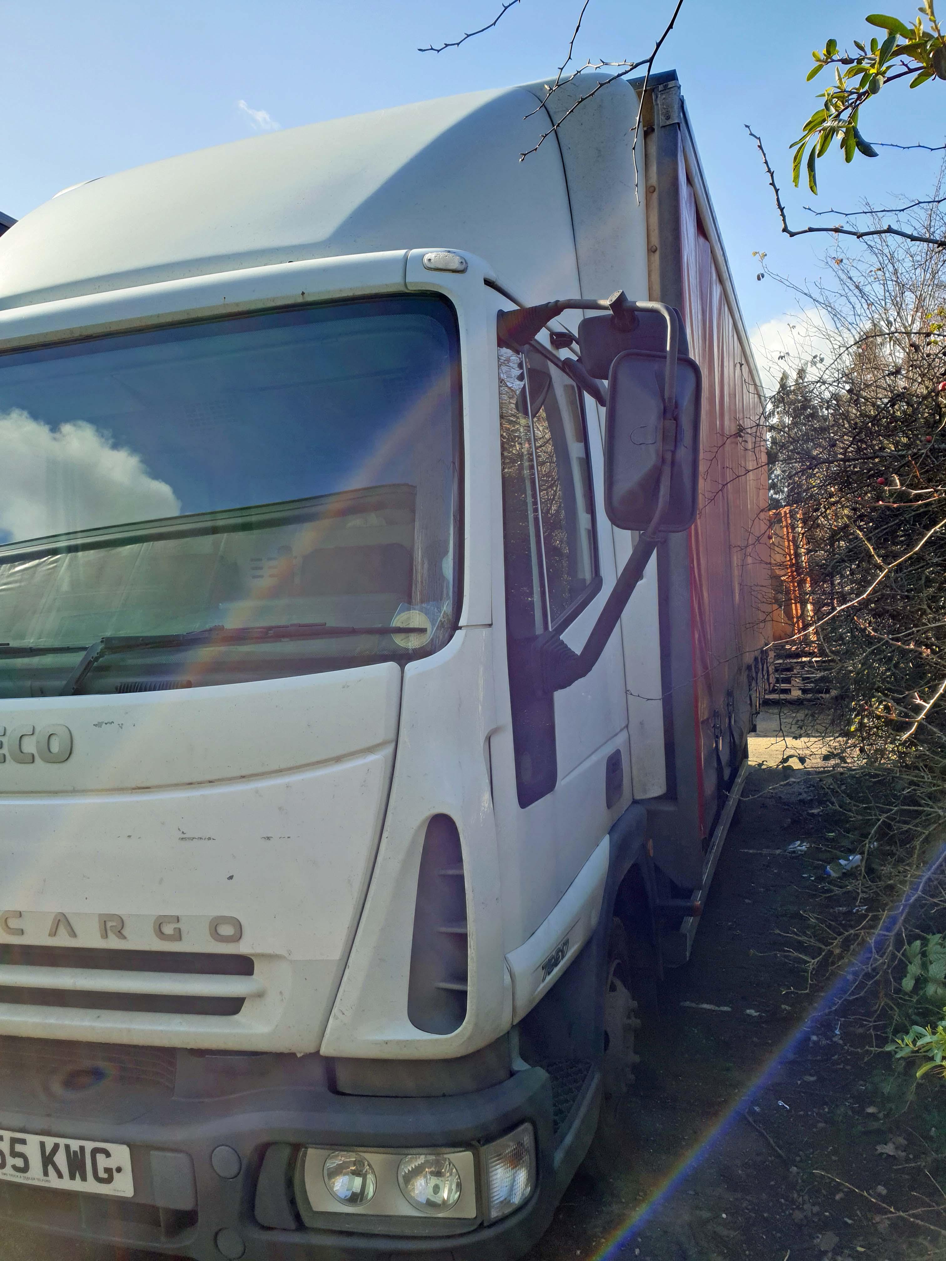 An IVECO Eurocargo ML 75 E17 3920cc 4x2 7.5-Tonne Curtainside Truck, Registration No. FJ55 KWG, - Image 2 of 5