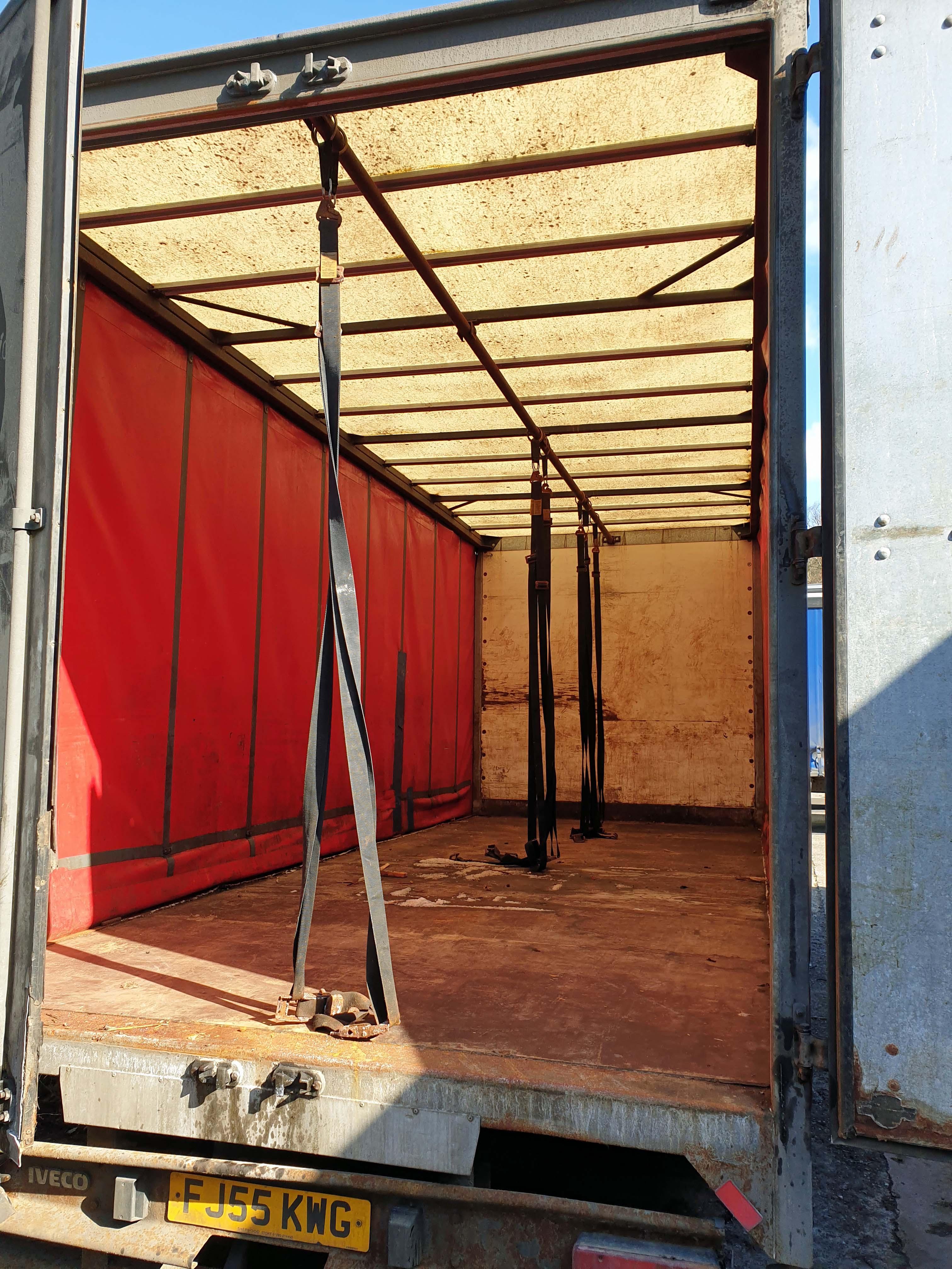 An IVECO Eurocargo ML 75 E17 3920cc 4x2 7.5-Tonne Curtainside Truck, Registration No. FJ55 KWG, - Image 4 of 5