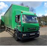 An IVECO Eurocargo ML180E25 5880cc Euro5 18-Tonne 4x2 Curtainside Truck, Registration No. FX12