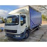 A DAF FA LF45.160 08 E 4500cc 4x2 7.5-Tonne Curtainside Truck, Registration No. FJ07 TOH, First