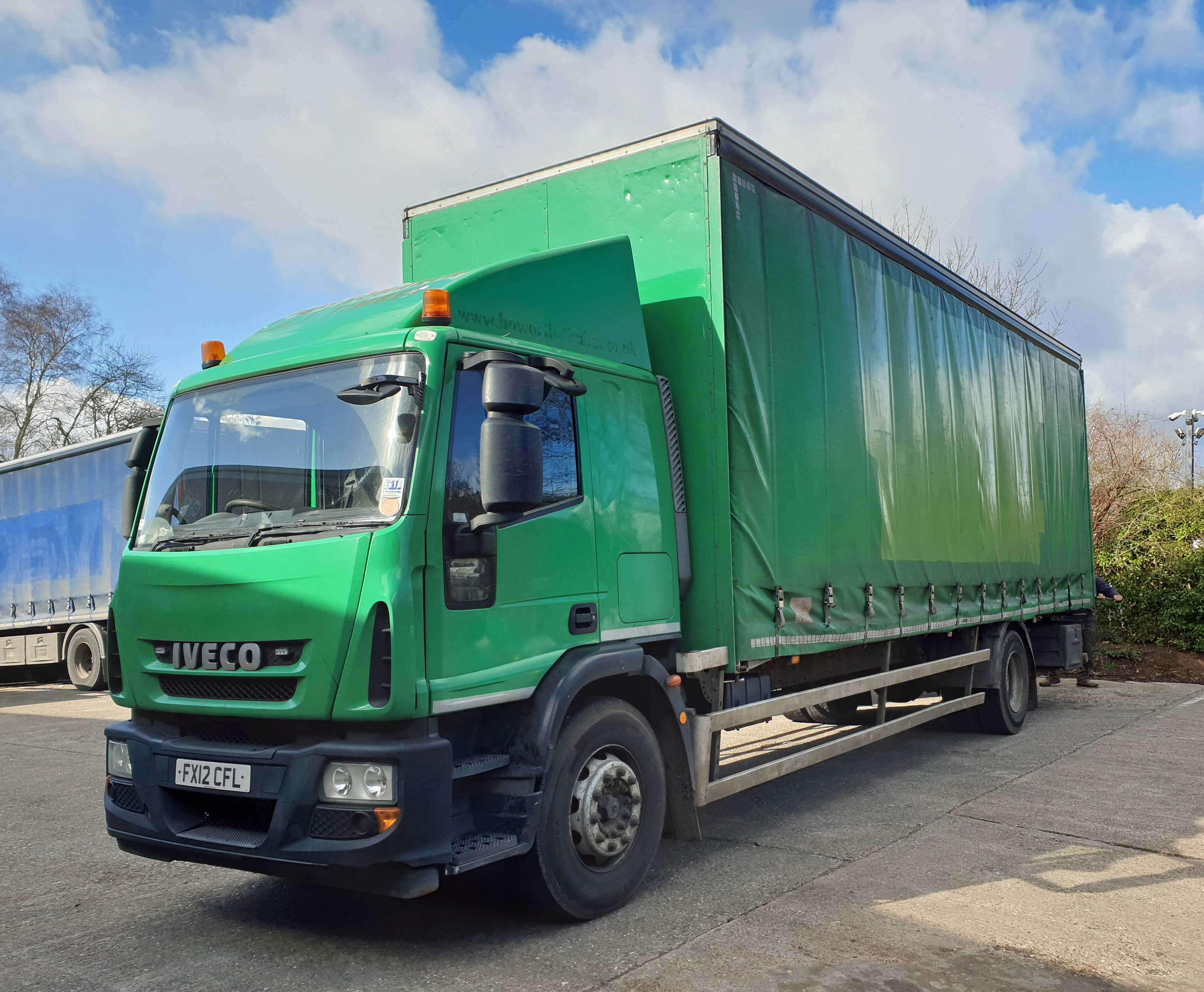 An IVECO Eurocargo ML180E25 5880cc Euro5 18-Tonne 4x2 Curtainside Truck, Registration No. FX12 - Image 2 of 8