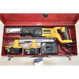 DeWalt DC385 Variable Speed Reciprocating Saw 18v w/ (2) Batteries, (1) Charger, and (1) Milwaukee C