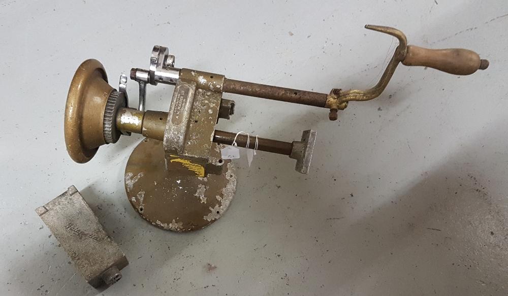 Lot 47 - BUTAPATTA butter patting machine, hand driven, no 14249