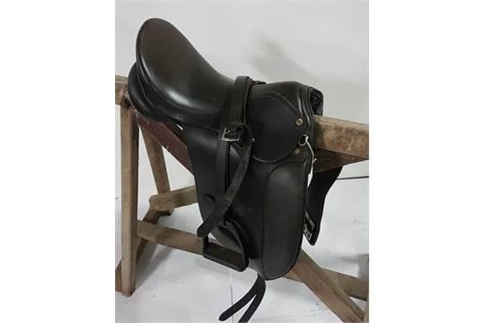 Leather Dressage Saddle, by SELLIER HENRI DE RIVEL, FRANCE