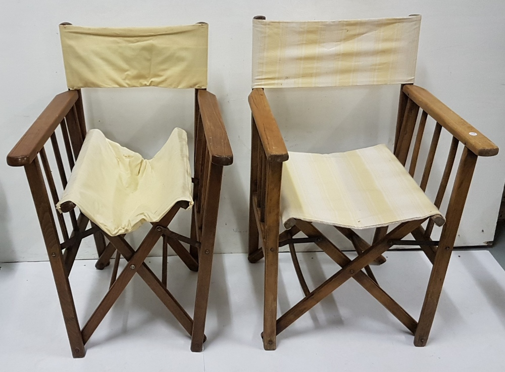 "Lot 17 - Pair of garden ""director's"" folding chairs"
