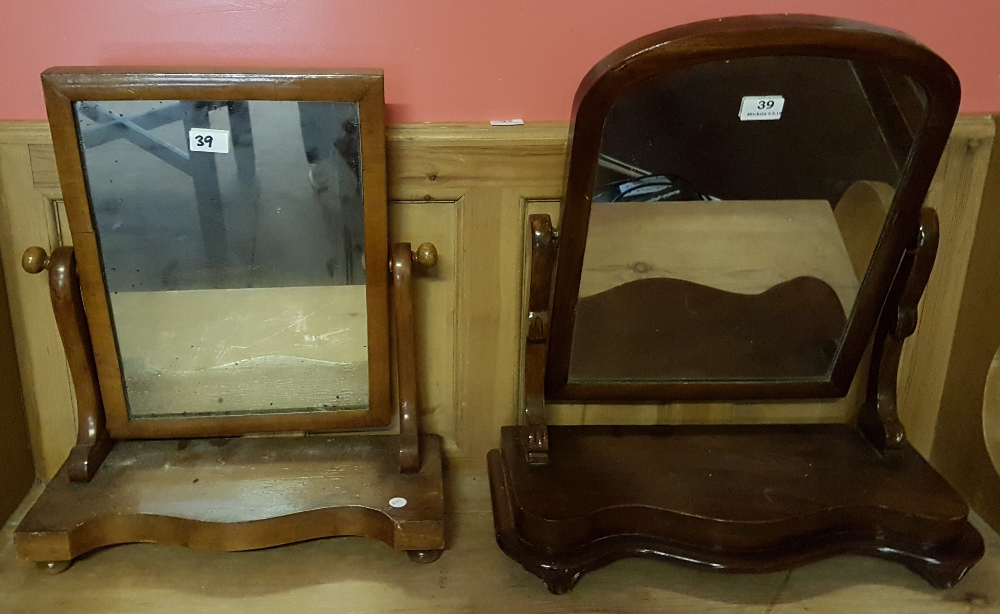 """Lot 39 - 2 Victorian swivel Toilet Mirrors, each approx. 22""""h"""