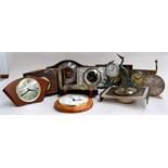 A quantity of mantel clocks, mostly by Metamec,