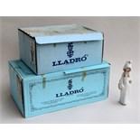 A set of three Lladro figurines, two in original boxes; No.5050 'Ballerina' 31cmH, No.