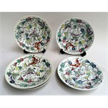 20th century? Chinese enamel plates decorated with butterflies