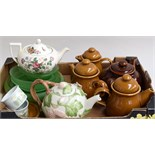 A selection of ceramics, to include four teapots, one milk pot,