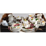 A large quantity of Simpsons 'Belle Fiore' Chanticleer Ware, including two teapots, sugar bowl,