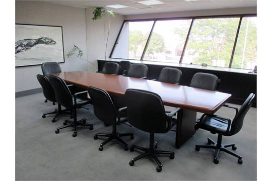 CONFERENCE ROOM FURNITURE INCLUDING X CONFERENCE TABLE - 144 conference table
