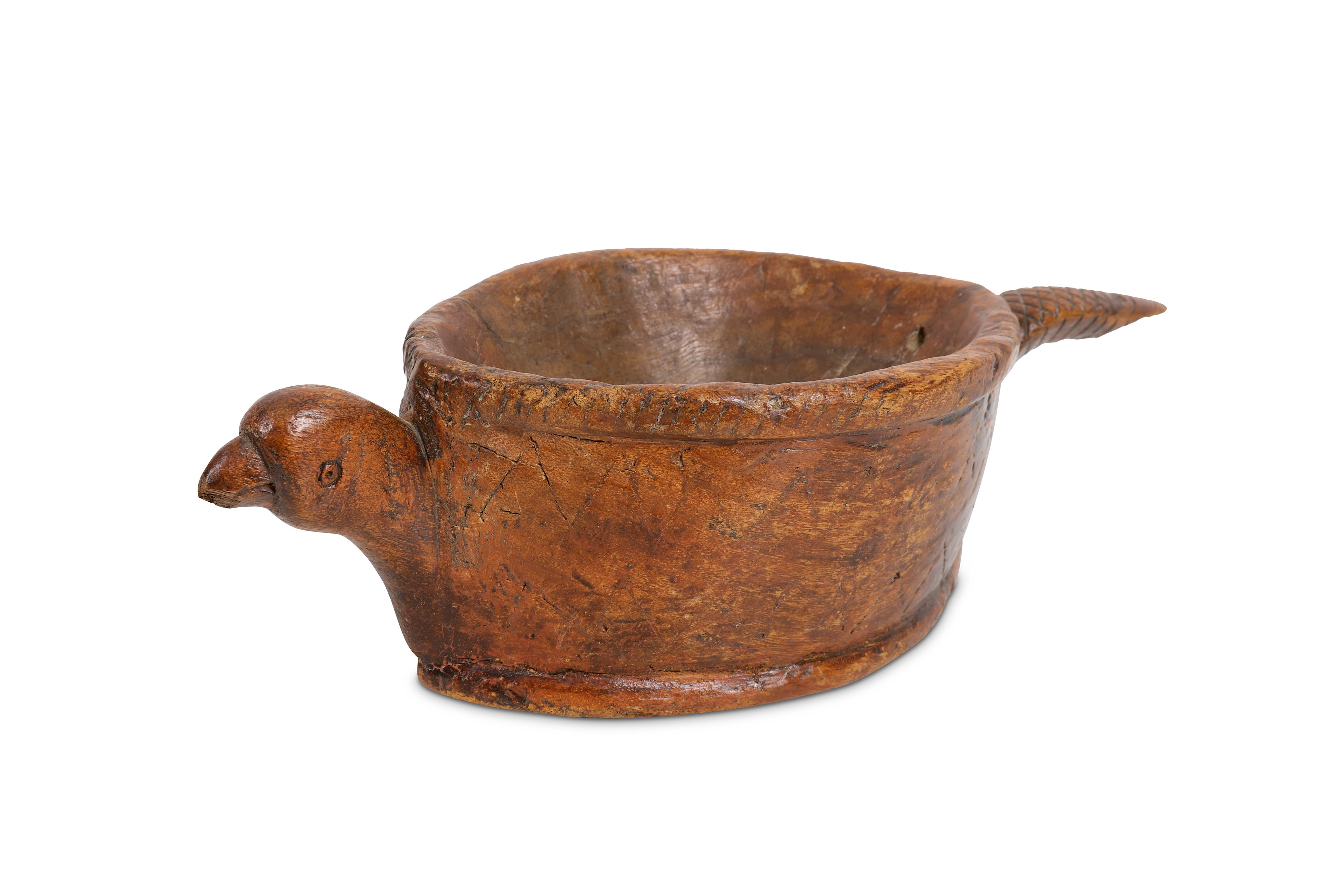 TREEN: A 19TH CENTURY CONTINENTAL (POSSIBLY SCANDINAVIAN) DRINKING VESSEL IN THE FORM OF AN ARMADILL