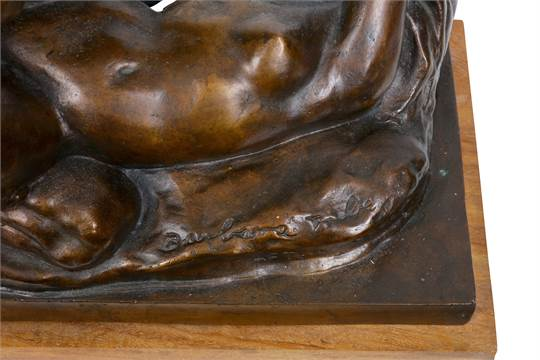 BARBARA TRIBE (1913-2000) AAR: AN EROTIC BRONZE GROUP OF A