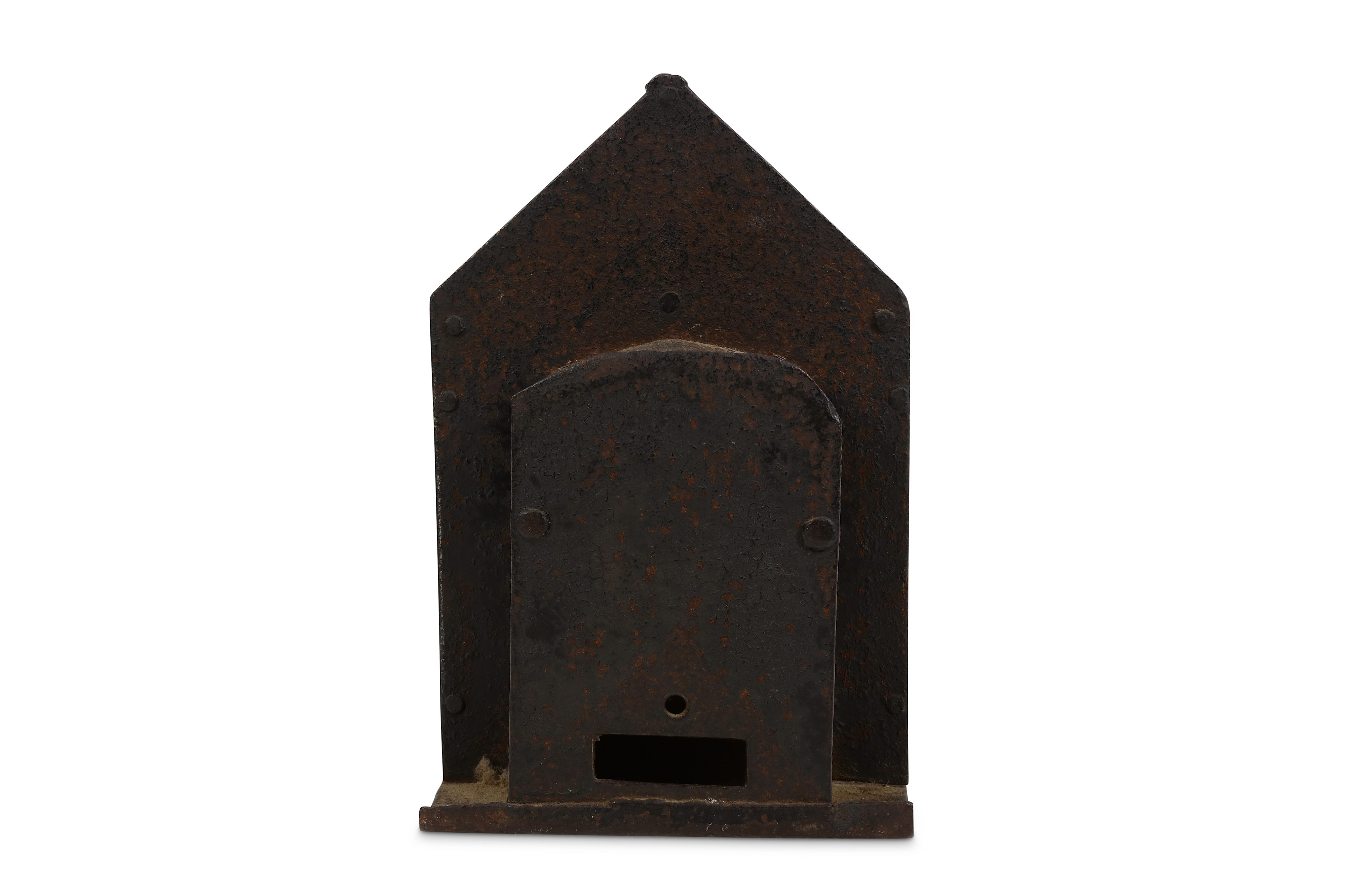 Lot 42 - A 19/20TH CENTURY STONEWARE MONEY BOX IN THE FORM OF A COTTAGE