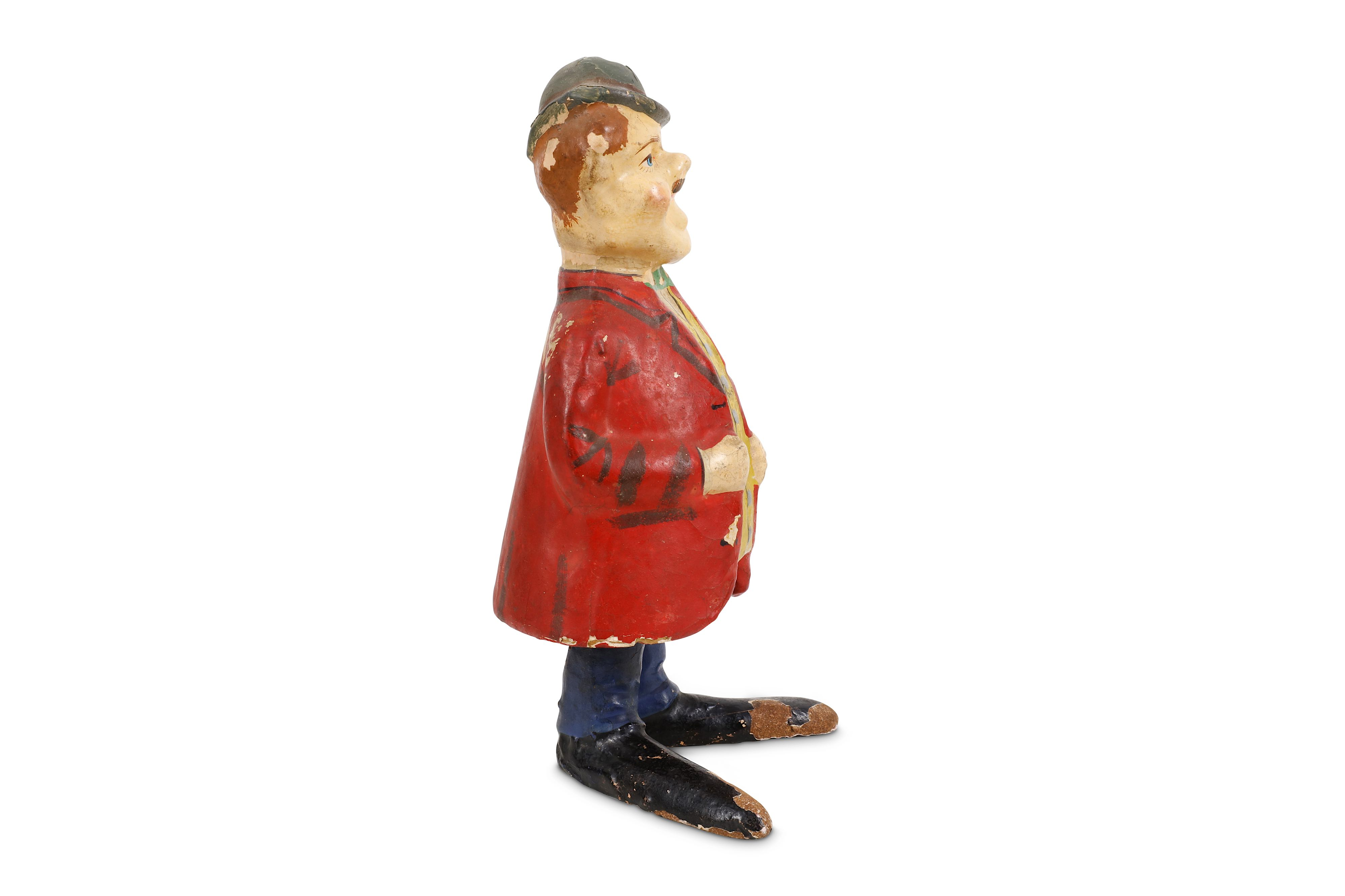 EARLY GERMAN PAPIER MACHER SPRING LOADED FIGURE DEPICTING OLIVER HARDY - Image 2 of 3