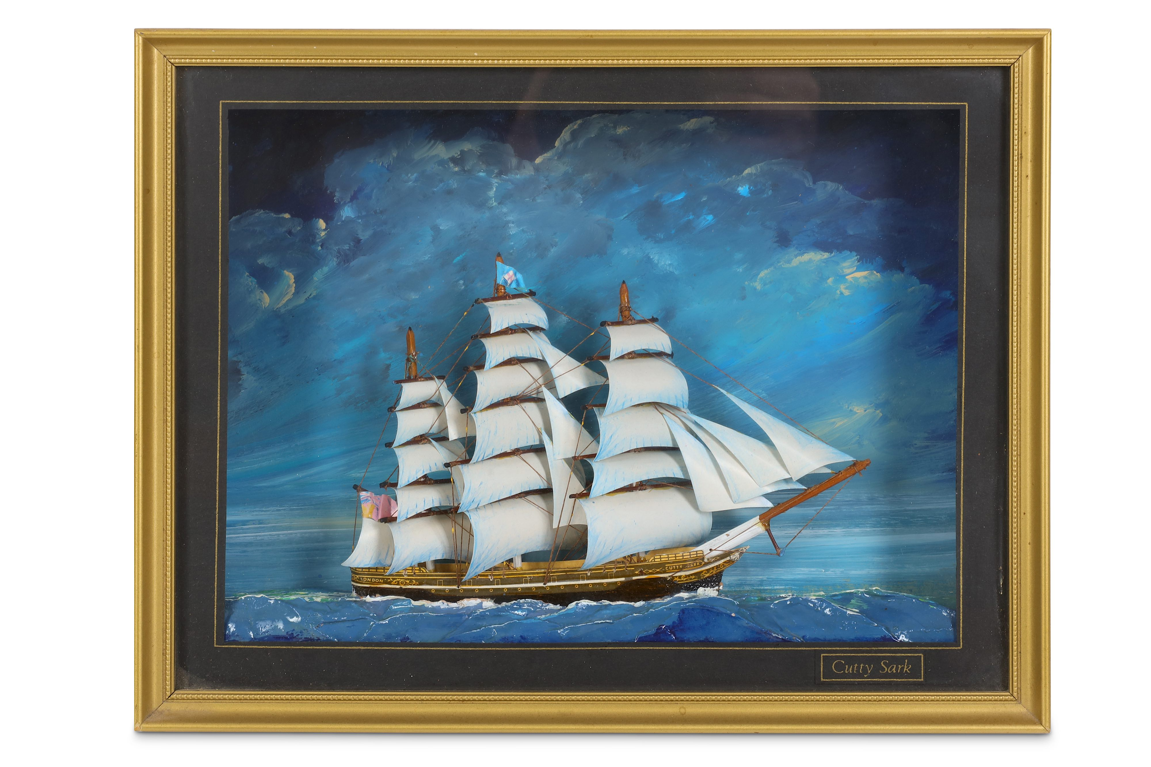 Lot 41 - A 20TH CENTURY DIORAMA OF CUTTY SARK