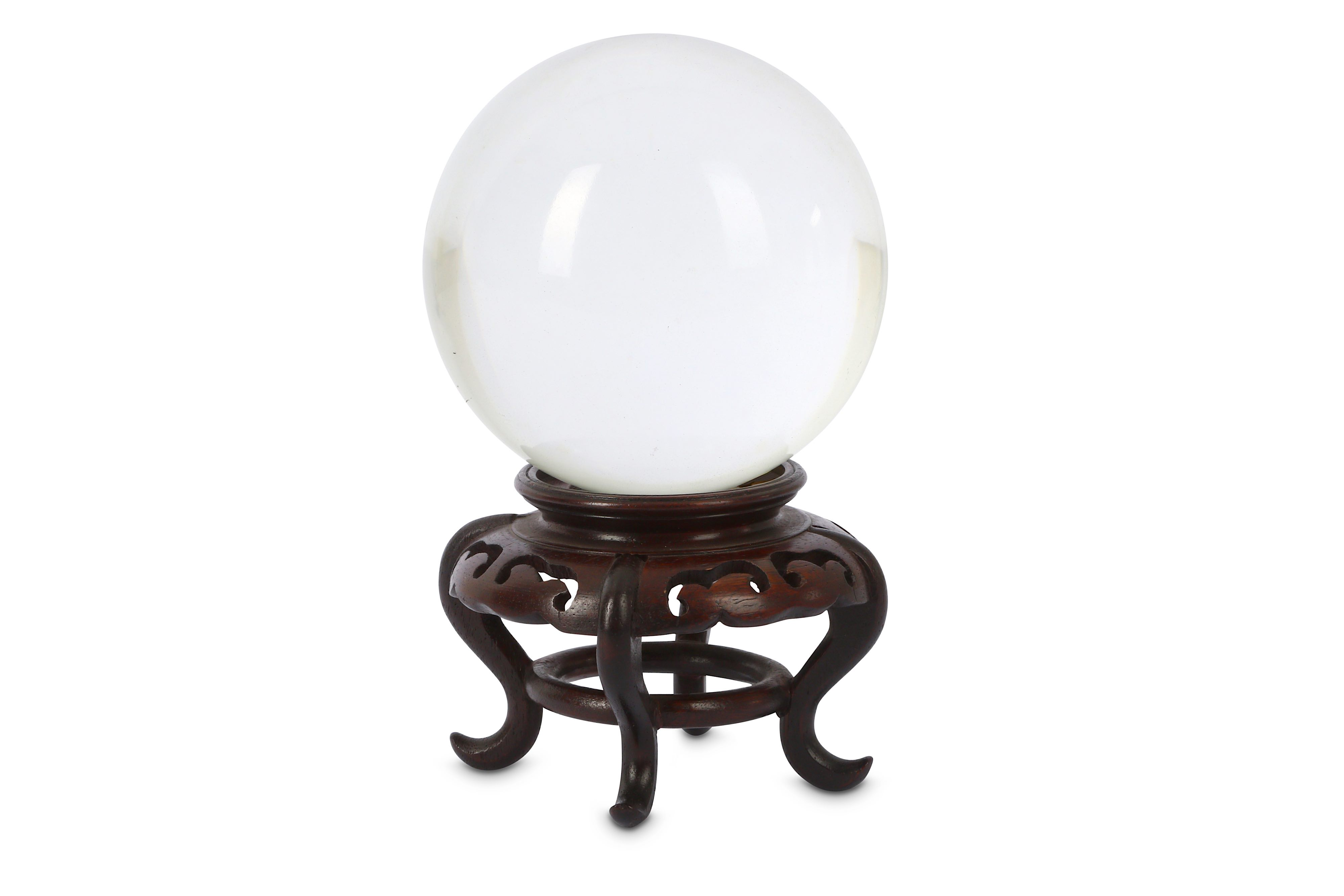 A LATE QING DYNASTY CHINESE CRYSTAL BALL.