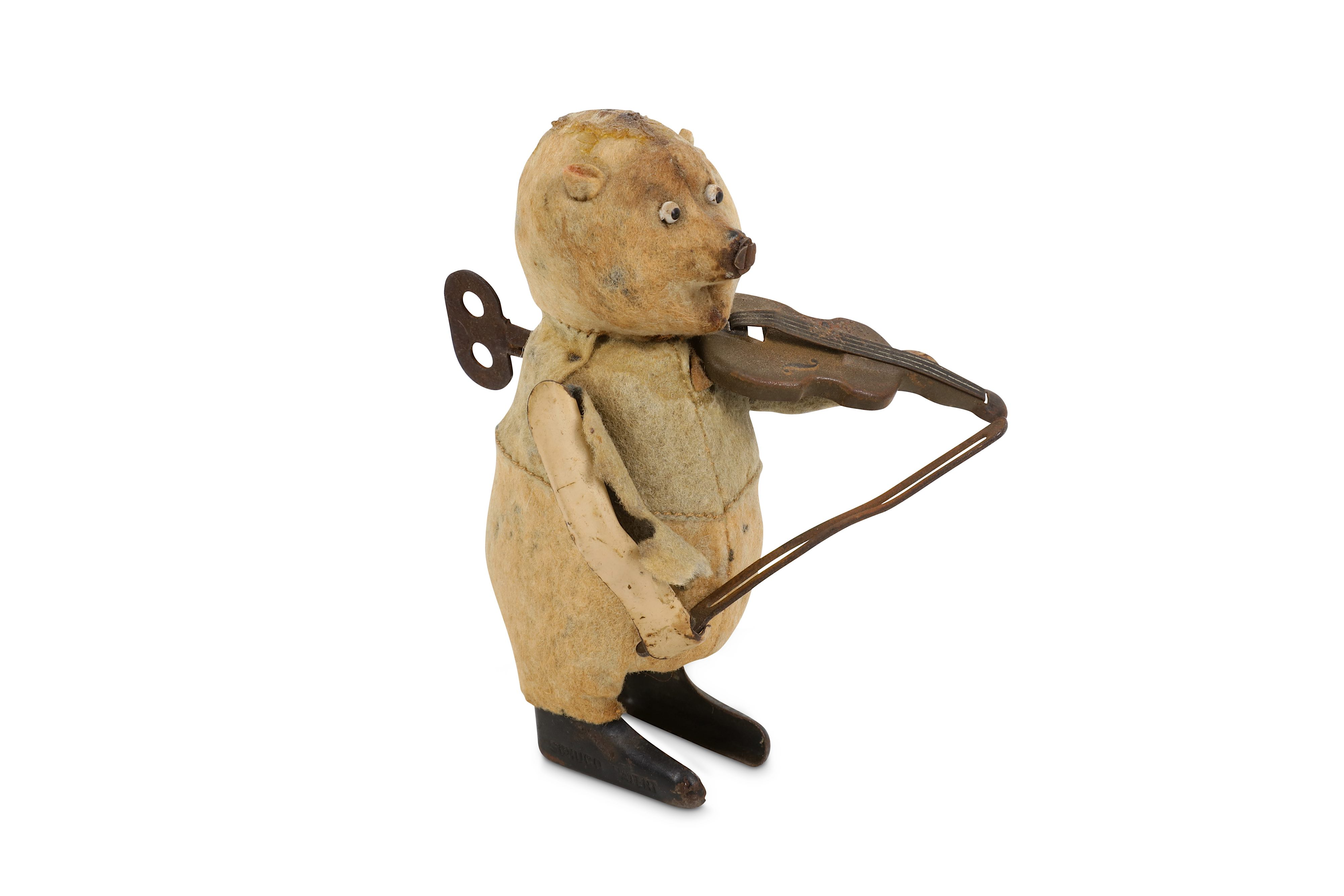 AN EARLY 20th CENTURY CLOCKWORK MUSICAL JOLLY CHIMP PLAYNG THE CYMBALS - Image 5 of 9