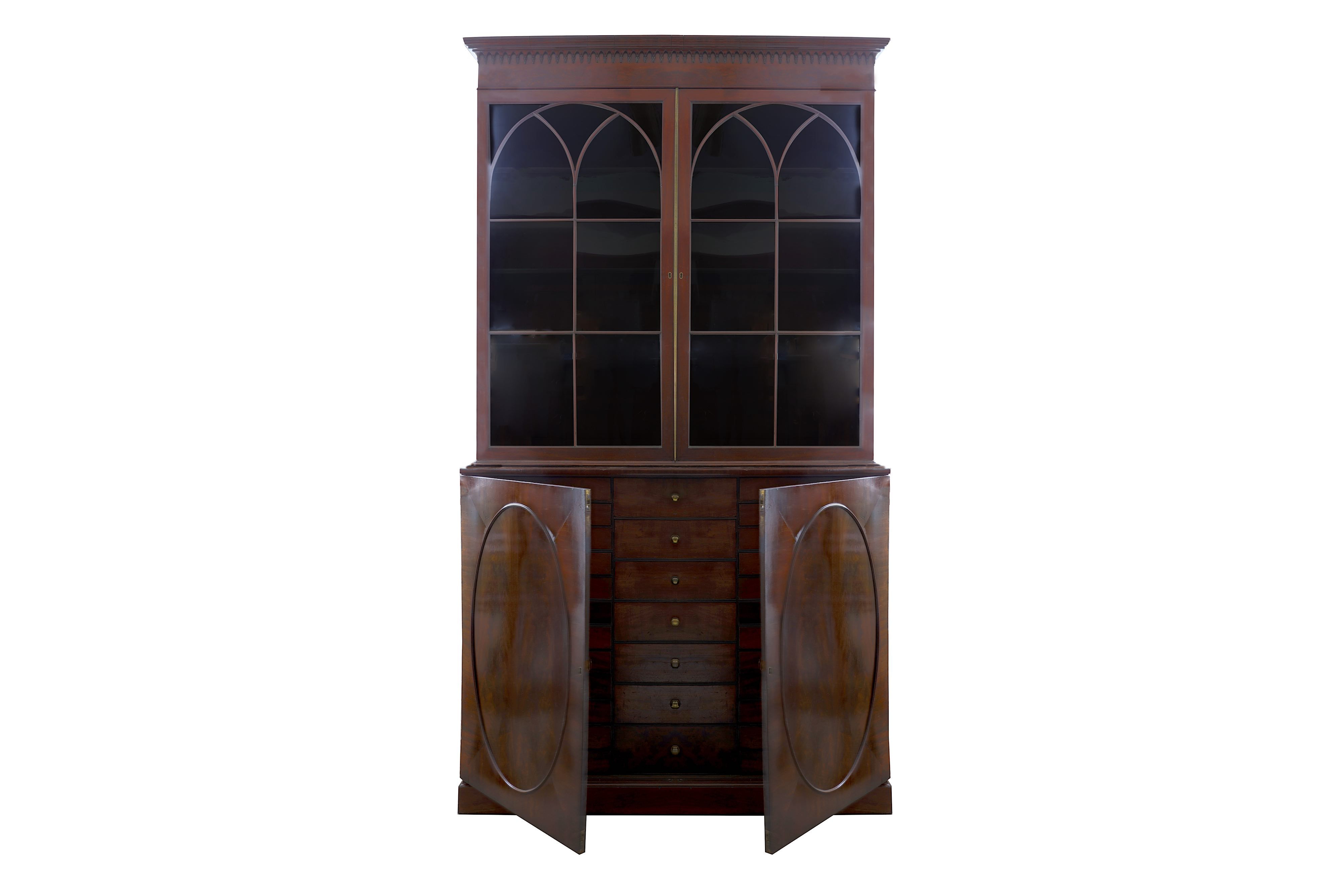 A GEORGE III MAHOGANY COLLECTOR'S CABINET, CIRCA 1810 - Image 4 of 4