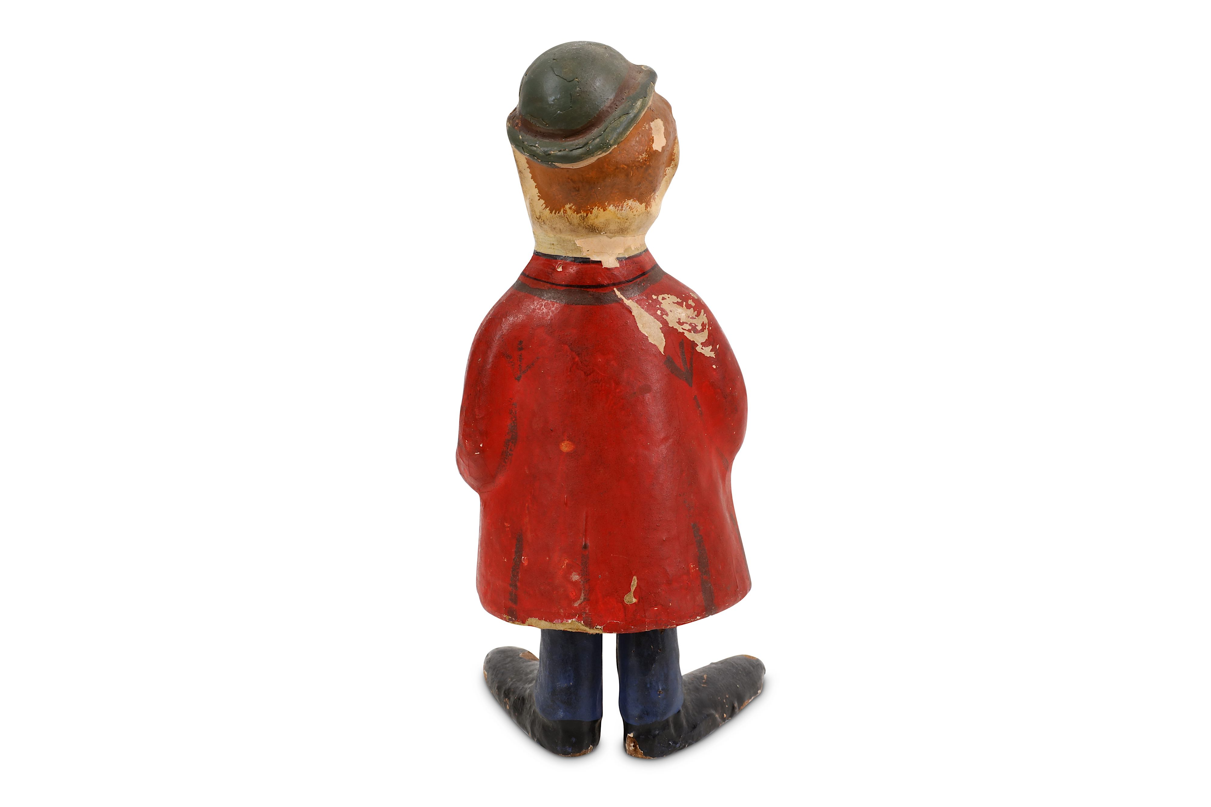 EARLY GERMAN PAPIER MACHER SPRING LOADED FIGURE DEPICTING OLIVER HARDY - Image 3 of 3