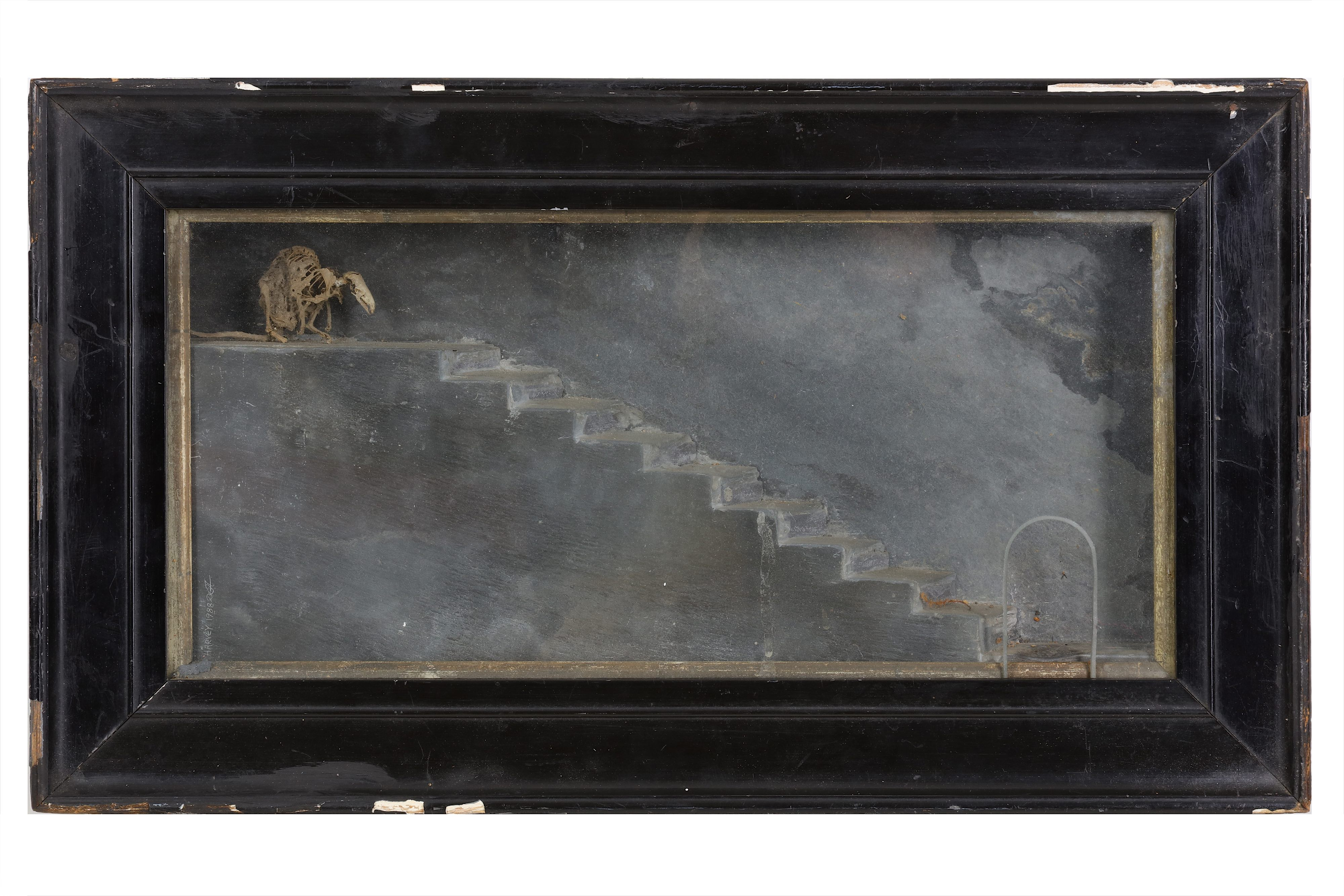 TWO GOTHIC STYLE SLATE AND BONE DIORAMAS - Image 2 of 5