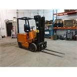 NISSAN, CYB02L20S, 4,000 LBS, 3 STAGE, ELECTRIC FORKLIFT, CHARGER, 6,304 HOURS, S/N CY802-002260