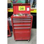 WATERLOO, SHOP SERIES, RED, TOOL CABINET WITH CONTENTS