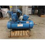 AIR COMPRESSOR - 5HP, TANK MOUNTED PISTON TYPE (RIGGIGN $100)