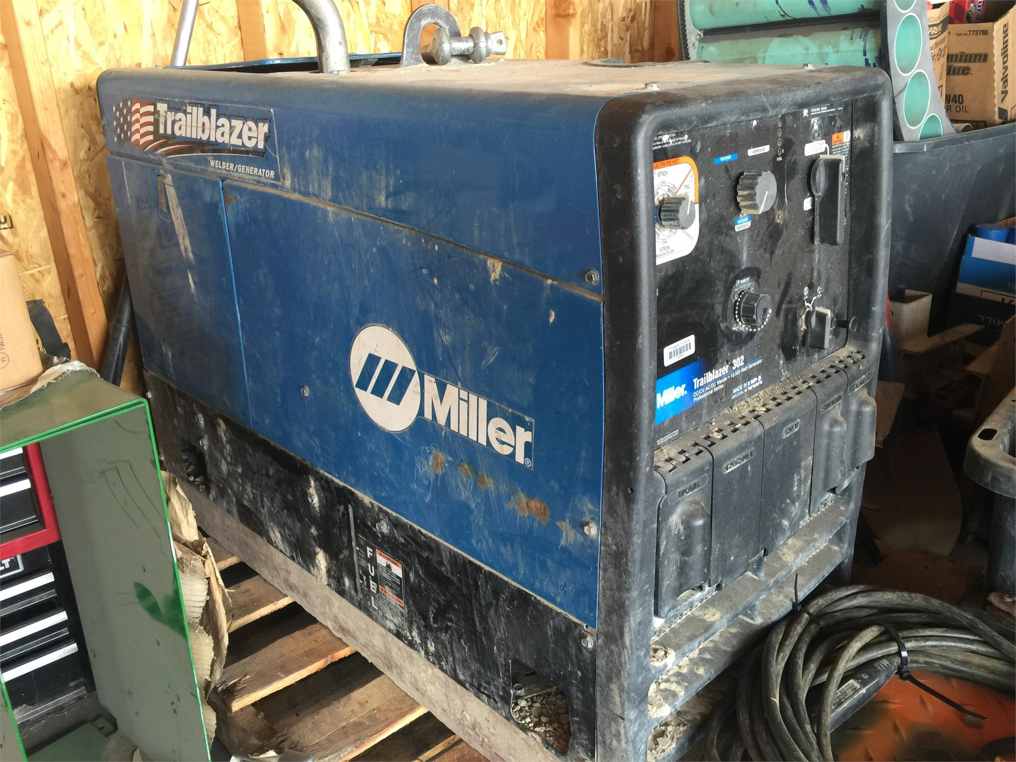Miller Trailblazer 302 welder generator, 10,500 Watt generator, CC ...