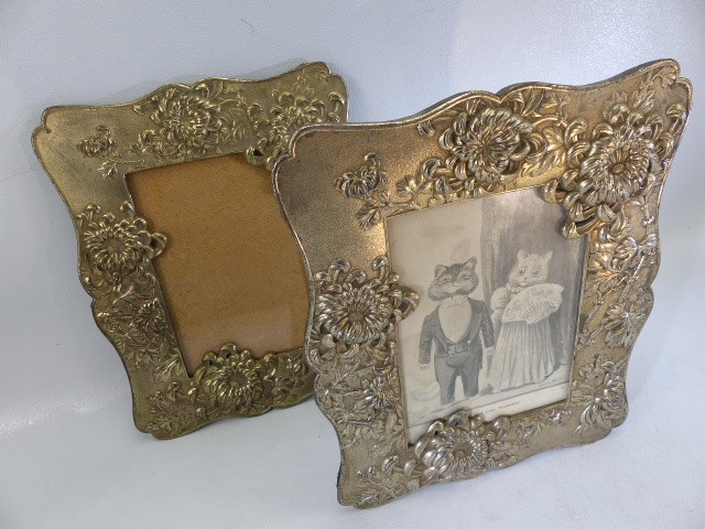 Two Silver coloured ornate photo frames and one small hallmarked Silver photo frame - Image 6 of 6