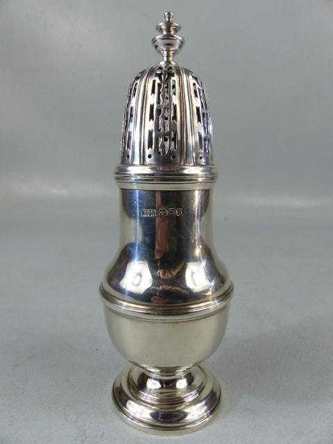 Silver hallmarked sugar shaker by Brook & Son