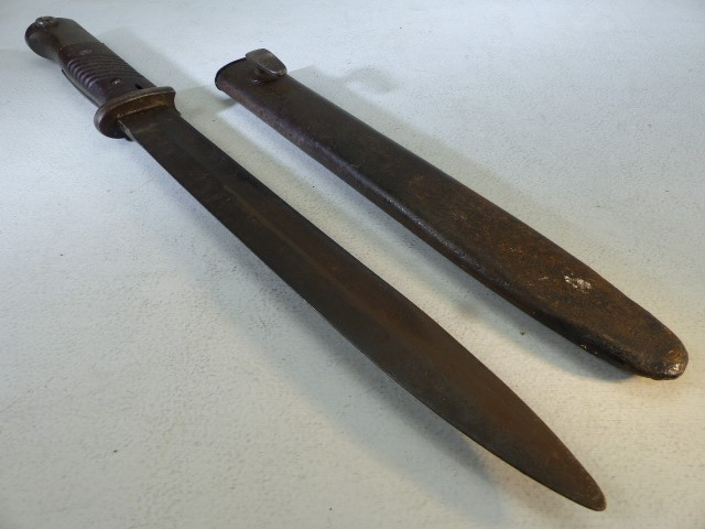 Solingen bayonet marked Paul Weyersberg & Co SOLINGEN , with scabbard - Image 3 of 3