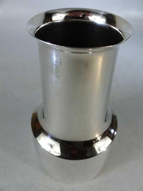 1960s Danish Cohr Conica silver plated vase by HANS BUNDE with flaming sword mark - Image 3 of 4