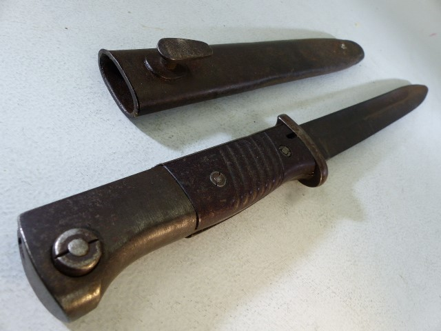Solingen bayonet marked Paul Weyersberg & Co SOLINGEN , with scabbard - Image 2 of 3