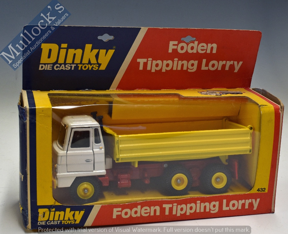 Lot 23 - Dinky Toys Foden Tipping Lorry 423 Diecast Model in red, yellow and white, appears in good condition