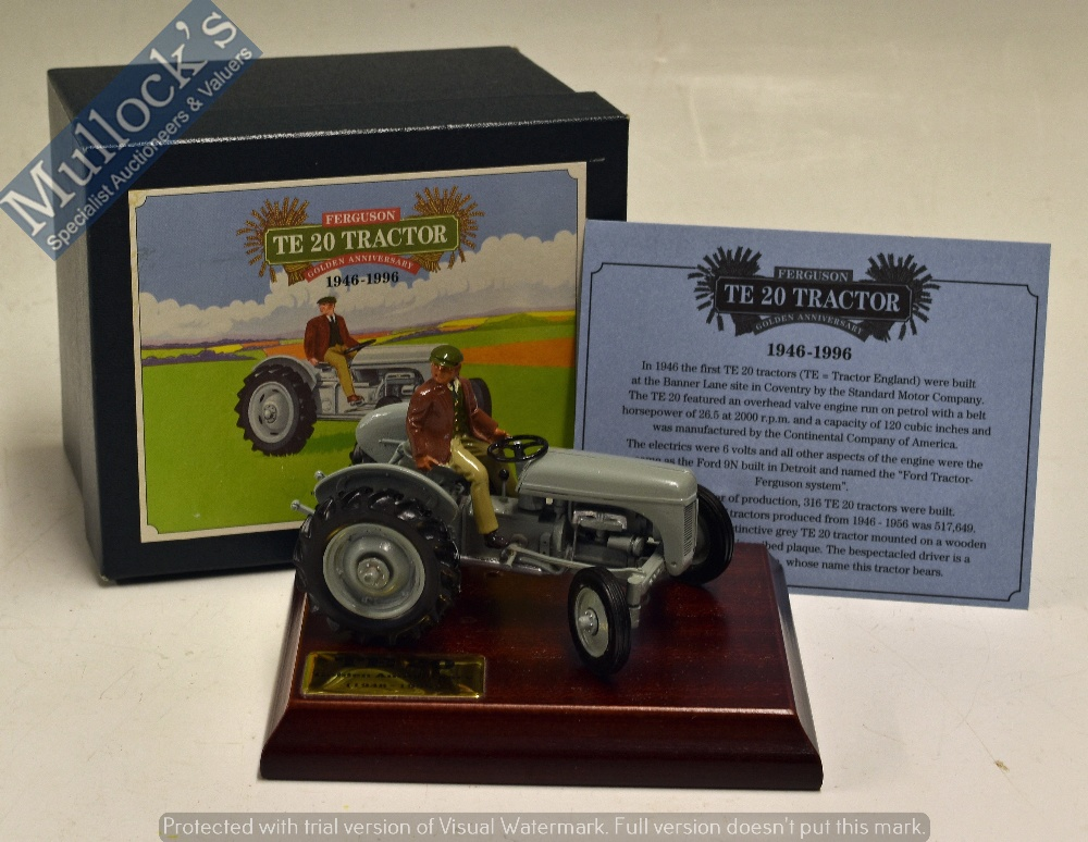 Lot 56 - Britains 'Massey Ferguson TE 20 Tractor' Diecast Model Toy celebrating the Golden Anniversary 1946-