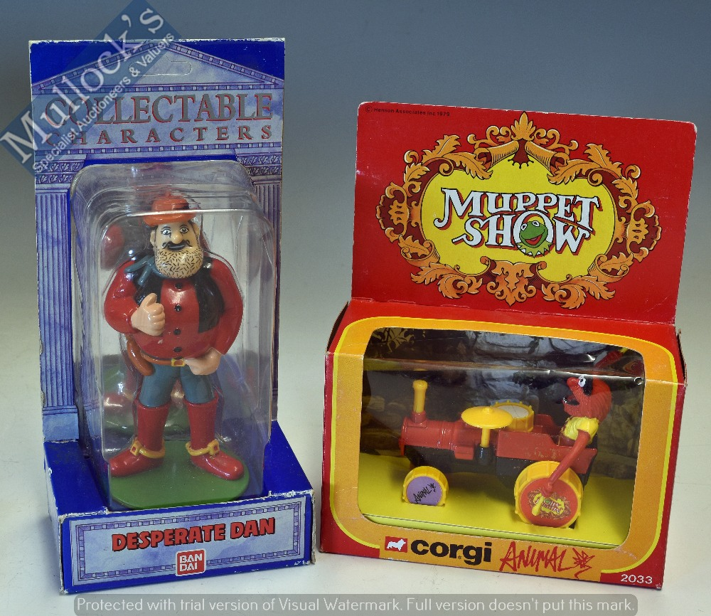Lot 37 - 1979 Corgi Toys 'Muppet Show' Models to include Kermit 2030, Miss Piggy 2032, Animal 2033 (2) and