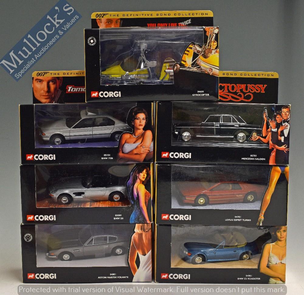 Lot 50 - 2001 Corgi James Bond 'The Definitive Bond Collection' Diecast Models to include 04901 BMW Z3