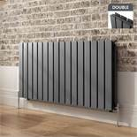 BRAND NEW BOXED 600x1210mm Anthracite Double Flat Panel Horizontal Radiator. RRP £549.99.Made...