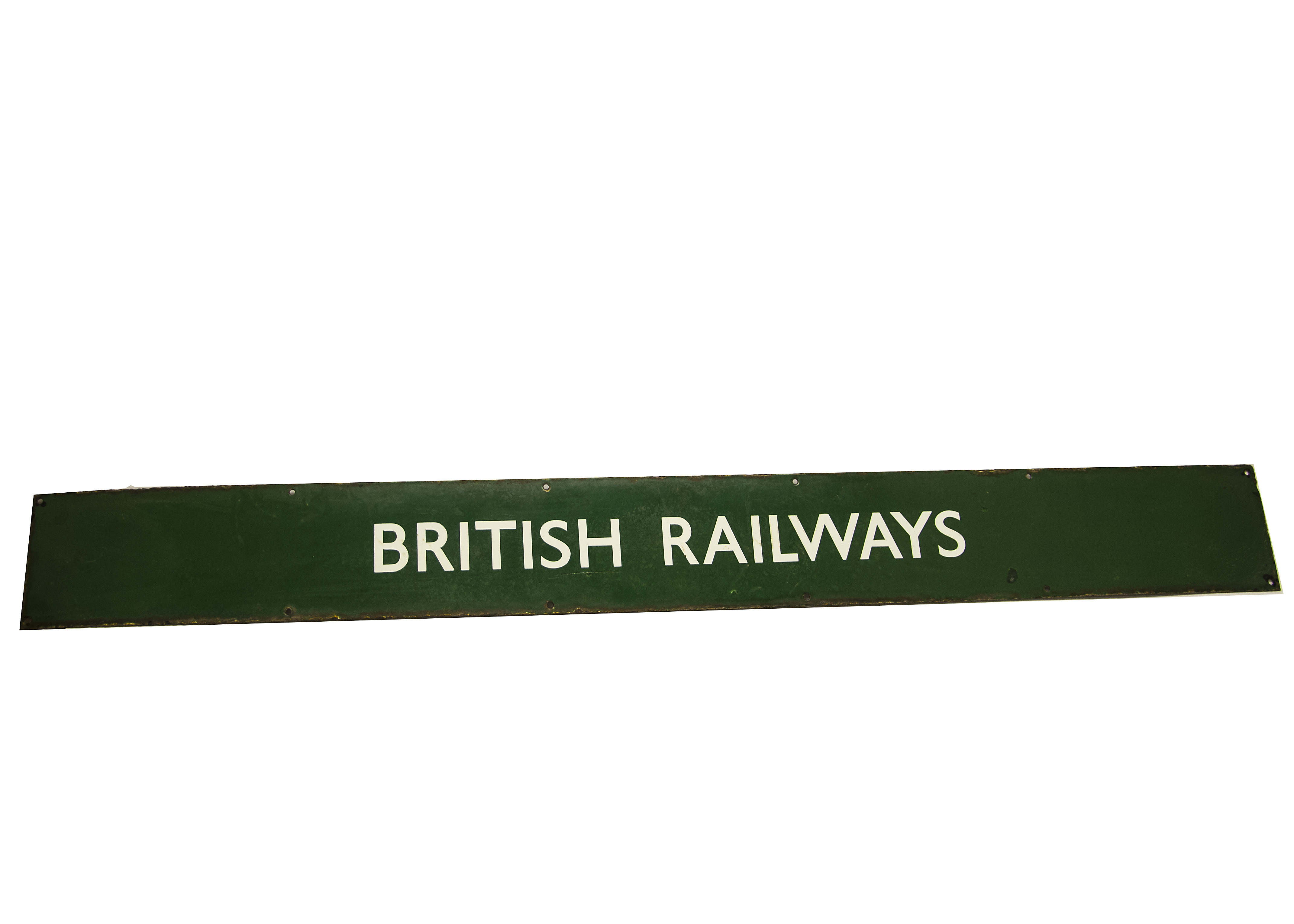 Lot 746 - To The Trains and British Railway Signs, a duo of BR Southern enamelled signs, both white text on