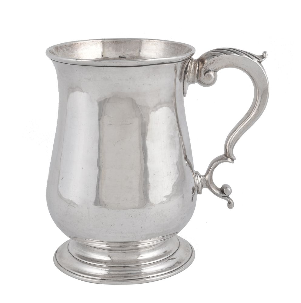 A George III silver baluster mug