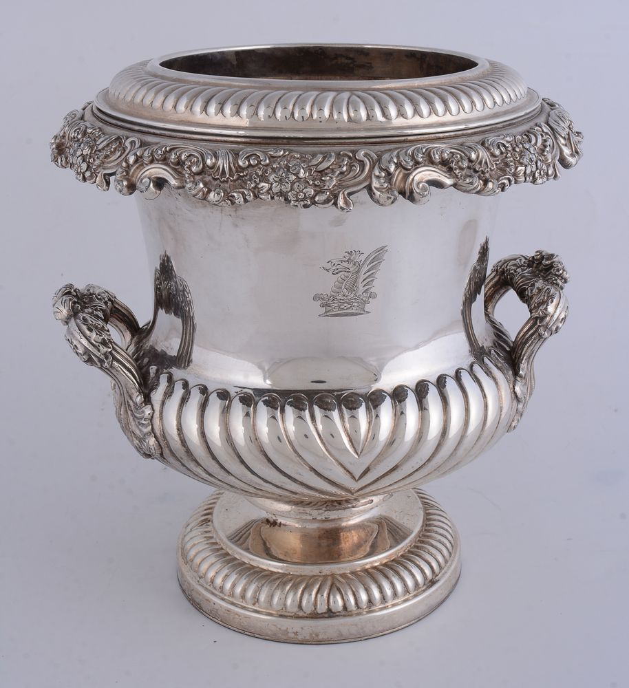 A George IV old Sheffield plate campana shaped wine cooler - Image 2 of 2