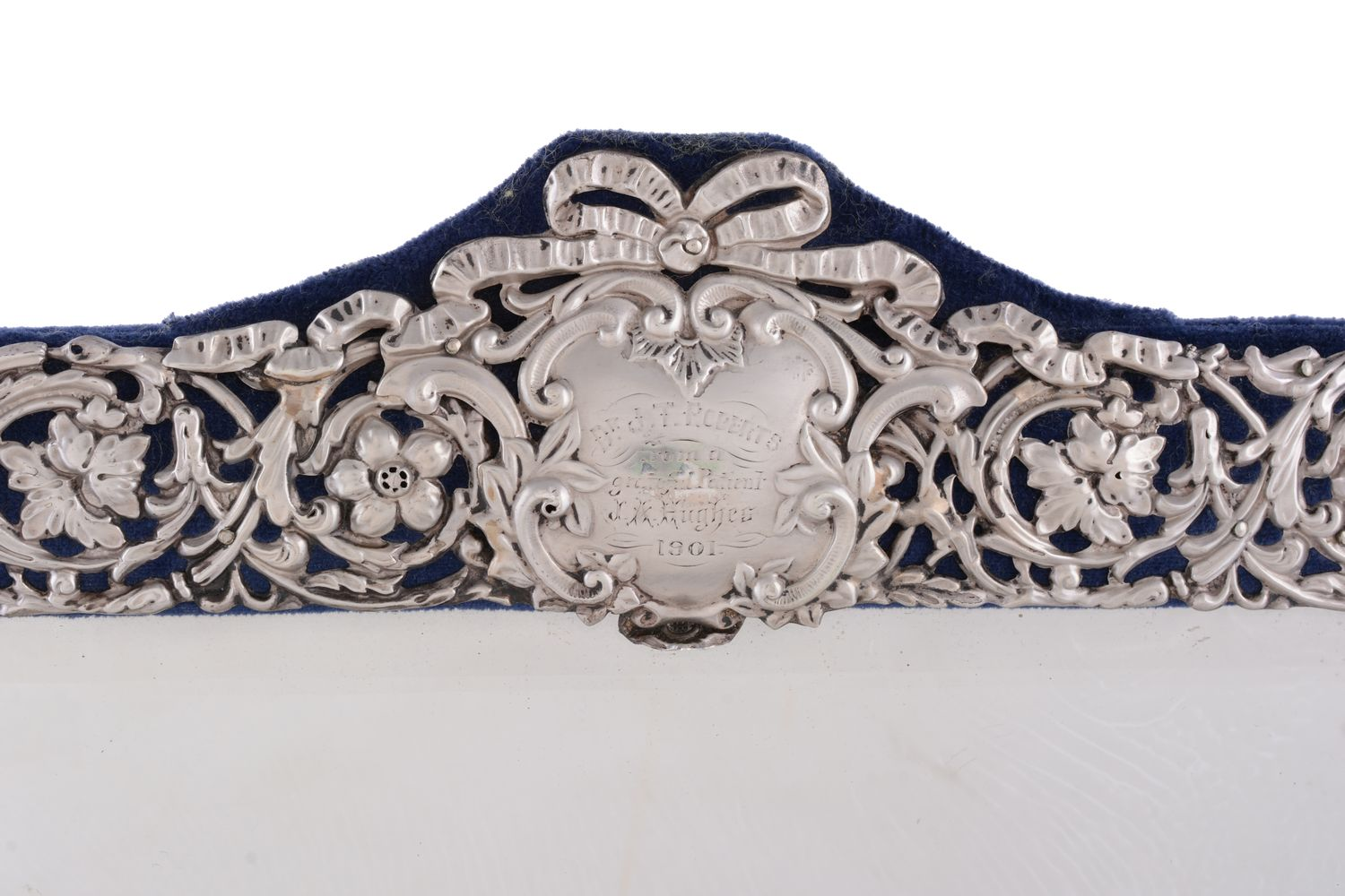 A late Victorian silver dressing table mirror by Henry Matthews - Image 2 of 3